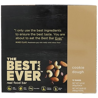 Best Bar Ever, Cookie Dough, 12 Bars, 1.41 oz (40 g) Each