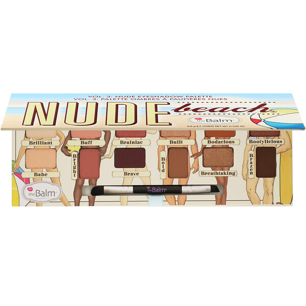 Nude Beach, Volume 3, Nude Eyeshadow Palette, 0.336 oz (9.6 g)