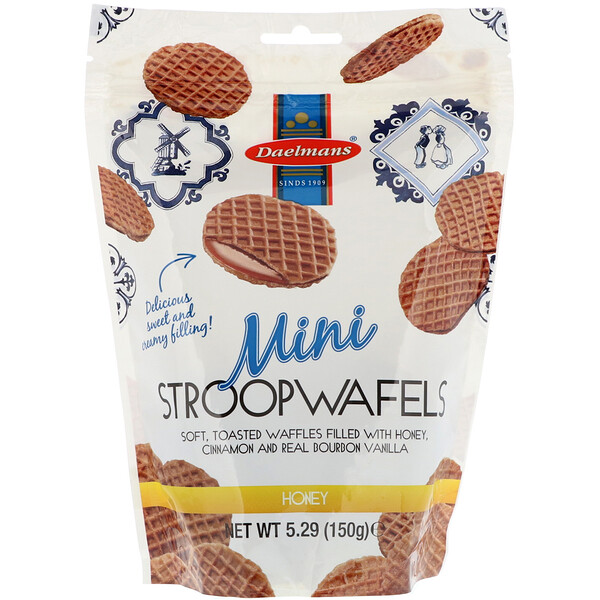 Mini Stroopwafels, Honey, 5.29 oz (150 g)