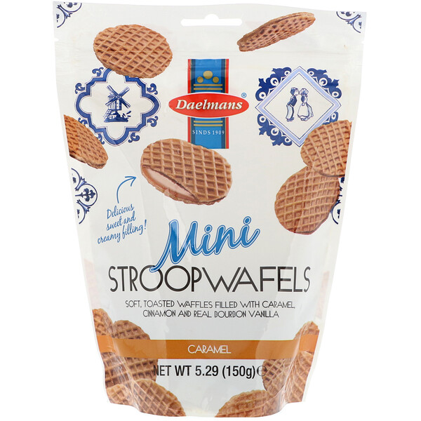 Biscuits Mini Stroopwafels, caramel, 5,29 oz (150 g)