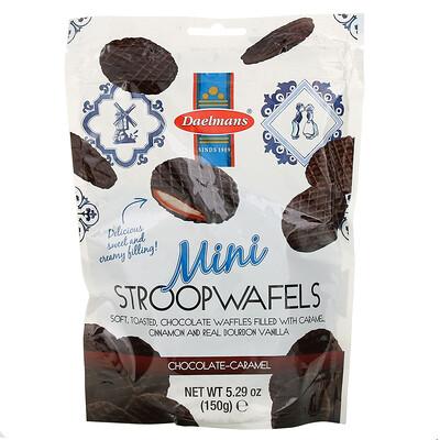Купить Daelmans Mini Stroopwafels, Chocolate-Caramel, 5.29 oz (150 g)