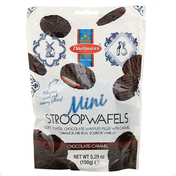Mini Stroopwafels, Chocolate Caramel, 5.29 oz (150 g)