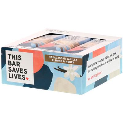 This Bar Saves Lives, LLC 馬達加斯加香草杏仁和蜂蜜,12 條,每條 1.4 盎司(40 克)