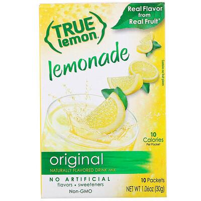 Купить True Citrus True Lemon, Настоящий лимонад, 10 пакетов, 1, 06 унц. (30 г)