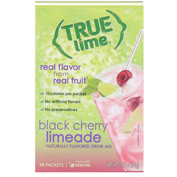 True Lime, Black Cherry Limeade, 10 Packets, 1.06 oz (30 g)