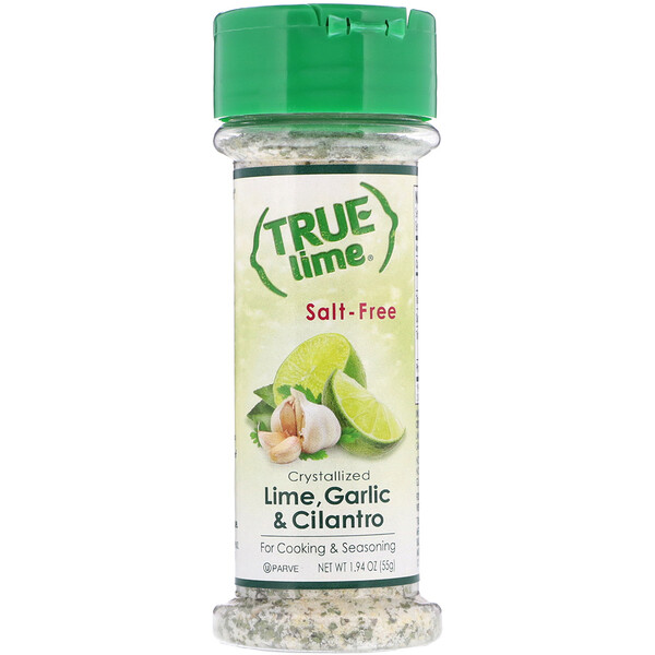 True Lime, Crystallized Lime, Garlic & Cilantro, Salt-Free, 1.94 oz (55 g)