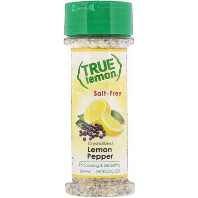 Купить True Citrus True Lemon, Кристаллизованный лимон и перец, Без соли, 2, 12 унц. (60 г)