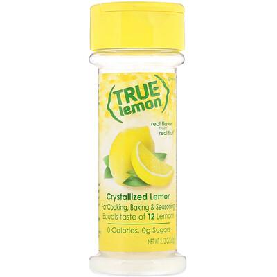 Купить True Citrus True Lemon, Кристаллизованный лимон, 2, 12 унц. (60 г)