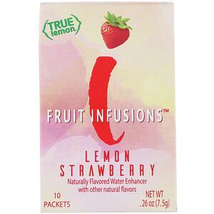 True Citrus, True Lemon, Fruit Infusion, Lemon Strawberry, 10 Packets, .26 oz (7.5 g) отзывы