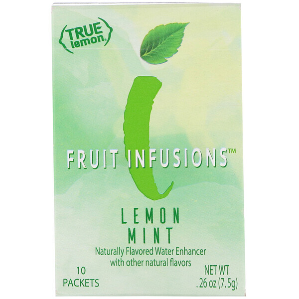 True Citrus, True Lemon, Fruit Infusion, Lemon Mint, 10 Packets, .26 oz (7.5 g)