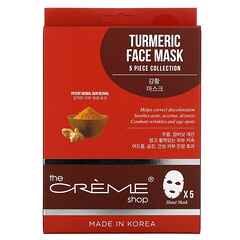 The Creme Shop, Turmeric Beauty Face Mask Pack, 5 Sheets, 4.41 oz (125 g) - iHerb