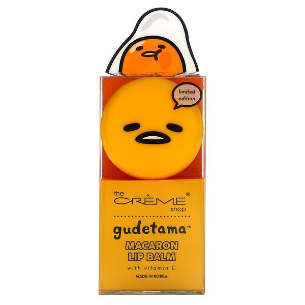 The Creme Shop, Gudetama, Macaron Lip Balm, Pineapple Sherbet, 0.26 oz (7.5 g)