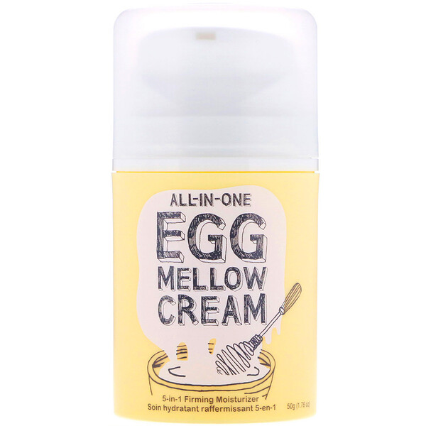 All-in-One Egg Mellow Cream, 5-in-1 Firming Moisturizer, 1.76 oz (50 g)