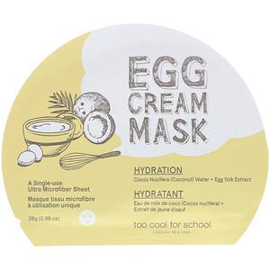 Too Cool for School, Egg Cream Mask, Hydration, 1 Sheet, (0.98 oz) 28 g отзывы покупателей