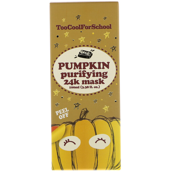 Too Cool for School, Pumpkin Purifying 24K Mask, 3.38 fl oz (100 ml)