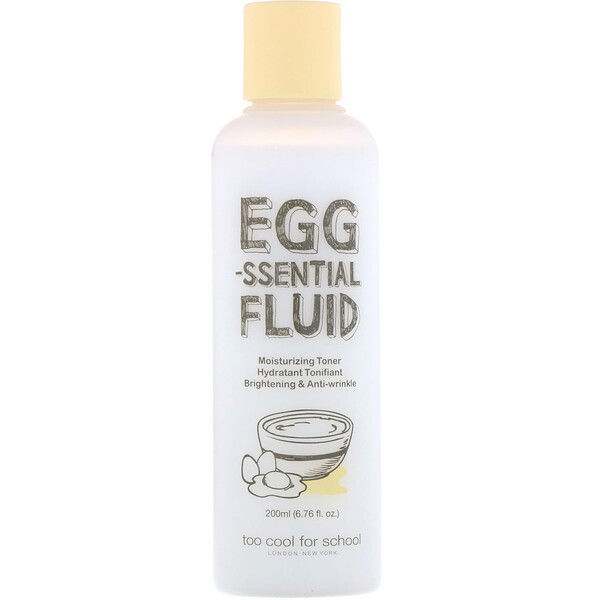Too Cool for School, Egg-ssential Fluid, Moisturizing Toner, 6.76 fl oz (200 ml)