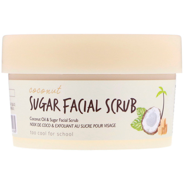 Too Cool for School, Coconut Sugar Facial Scrub, 3.38 fl oz (100 ml) (Discontinued Item)