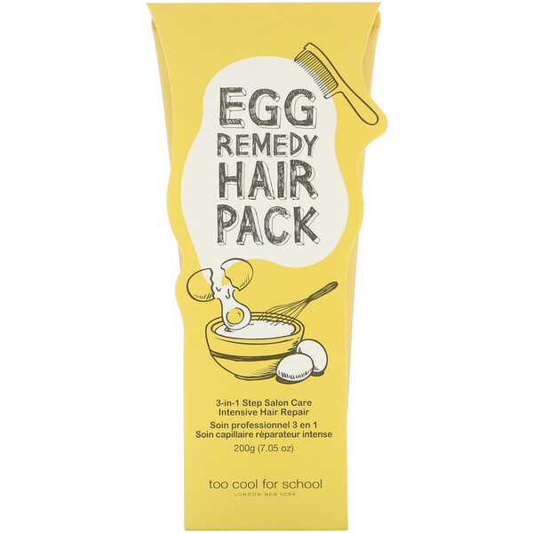Too Cool for School, Egg Remedy Hair Pack, 7.05 oz (200 g)