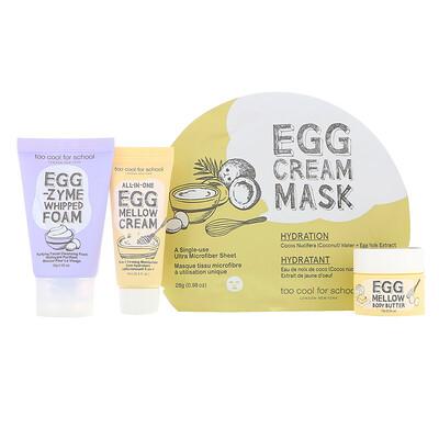 Купить Too Cool for School Мини-набор для ухода за кожей Egg-ssential, набор из 4 компонентов