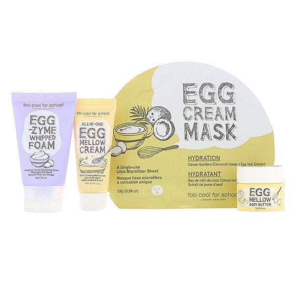 Egg-ssential Skincare Mini Set, 4 Piece Set