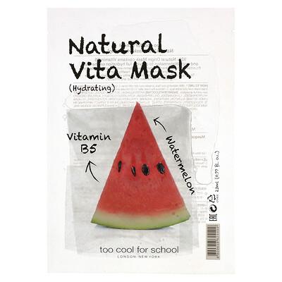 Купить Too Cool for School Natural Vita Beauty Mask (Hydrating) with Vitamin B5 & Watermelon, 1 Sheet, 0.77 fl oz (23 ml)