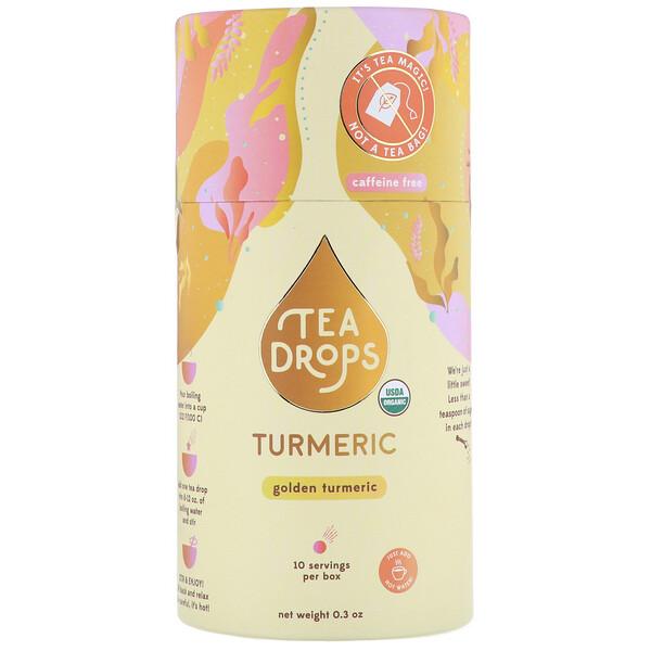 Tea Drops, كركم، خالٍ من الكافيين، 0.3 أونصة (Discontinued Item)