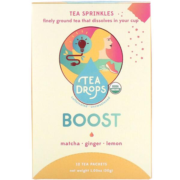 Tea Sprinkles, Energizante, 12 sobres de té, 30g (1,05oz)