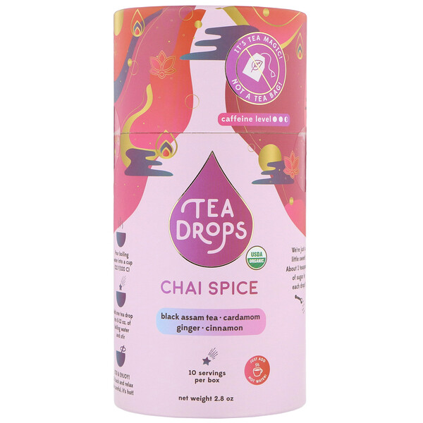 Tea Drops, Chai Spice, 2.8 oz