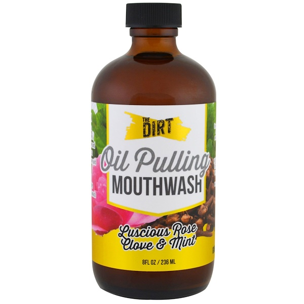 The Dirt, Oil Pulling Mouthwash, Lucious Rose, Clove & Mint, 3 Months Supply, 8 fl oz (236 ml) (Discontinued Item)