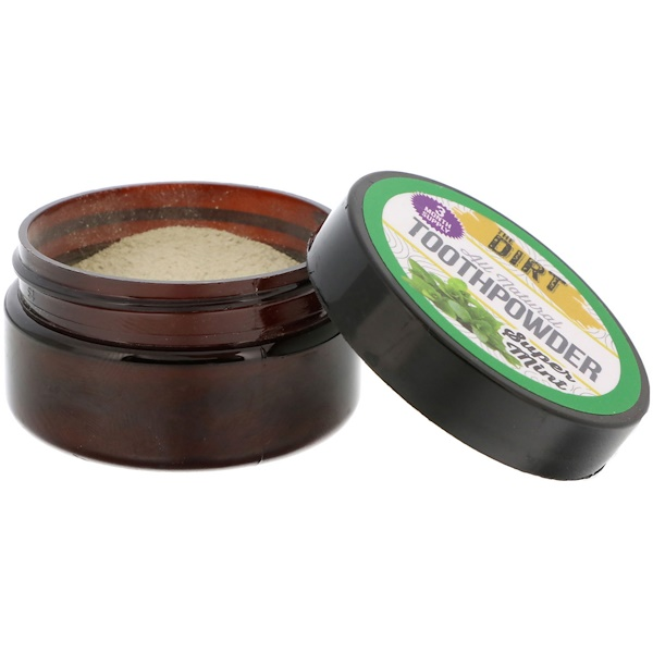 The Dirt, All Natural Toothpowder, Super Mint, .88 oz (25 g) (Discontinued Item)
