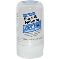 Чистый и натуральный, дезодорант из кристалличесих минеральных солей, 4.25 унции (120 г) - фото