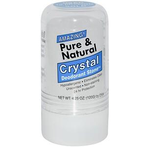 Thai Deodorant Stone, Чистый и натуральный, дезодорант из кристалличесих минеральных солей, 4.25 унции (120 г)