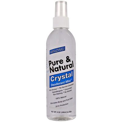Купить Pure & Natural, распыляющийся дезодорант Crystal, неароматизированный, 240 мл