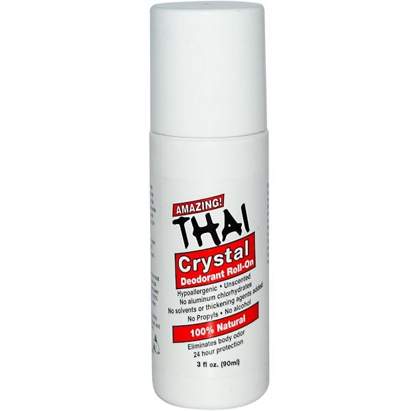 Thai Deodorant Stone, Deodorant Roll-On, 3 fl oz (90 ml) (Discontinued Item)