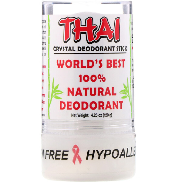 Thai Crystal Deodorant Stick, 4.25 oz (120 g)