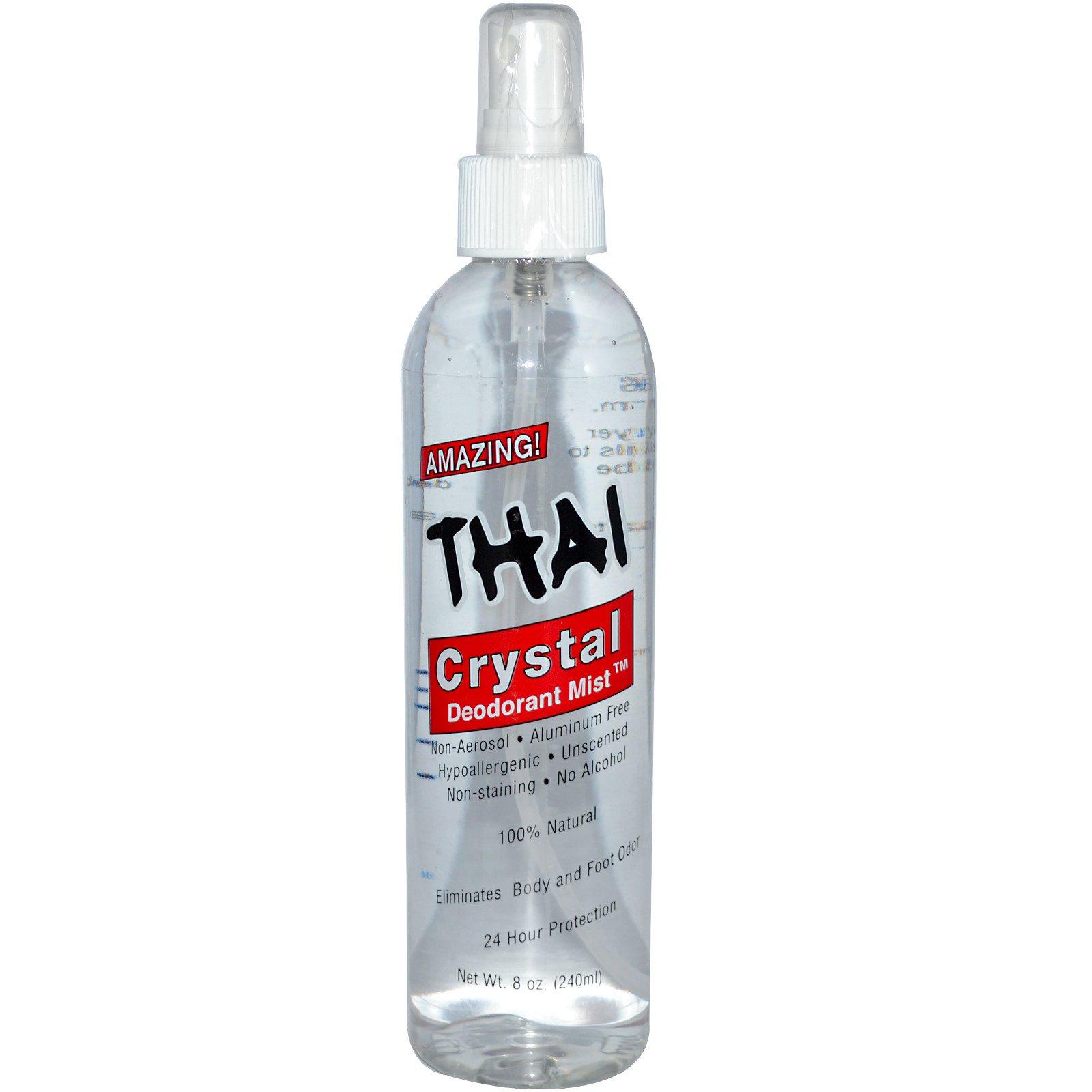 Thai Deodorant Stone, Дезодорант Crystal Deodorant Mist, 8 унций (240 мл)