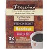 Teeccino, Roasted Herbal Tea, Herbal Tea Sampler, 4 Flavors, Caffeine Free, 12 Tea Bags, 2.54 oz (72 g)