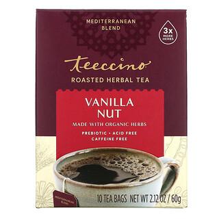 Teeccino, Roasted Herbal Tea, Vanilla Nut, Caffeine Free, 10 Tea Bags, 2.12 oz (60 g)