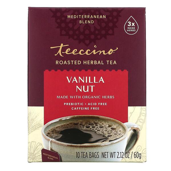 焙烤草本茶,香草堅果,無咖啡萃取,10 茶包,2.12 盎司(60 克)