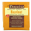 Teeccino, ローストハーブティー、ヘーゼルナッツ、ノンカフェイン、ティーバッグ10袋、60g(2.12オンス)