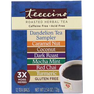 Теессино, Roasted Herbal Tea, Dandelion Tea Sampler, 6 Flavors, Caffeine Free, 12 Tea Bags, 2.54 oz (72 g) отзывы покупателей
