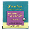 Teeccino, Organic Roasted Herbal Tea, Dandelion Dark Roast, Caffeine Free, 10 Tea Bags, 2.12 oz (60 g)