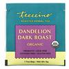 Teeccino, 有機烘焙草本茶,蒲公英深度烘焙,無因,10 包茶包,2.12 盎司(60 克)