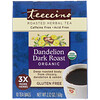 Teeccino, Roasted Herbal Tea, Dandelion Dark Roast, Organic, Caffeine Free, 10 Tea Bags, 2.12 oz (60 g)