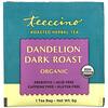 Teeccino, Organic Roasted Herbal Tea, Dandelion Dark Roast, Caffeine Free, 25 Tea Bags, 5.3 oz (150 g)