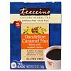Teeccino, Chicory Herbal Tea, Dandelion Caramel Nut, Caffeine Free, 10 Tea Bags, 2.12 oz (60 g)
