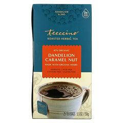 Teeccino, 焙烤草本茶,蒲公英焦糖堅果味,無咖啡萃取,25 茶包,5.3 盎司(150 克)