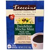 Teeccino, Chicory Herbal Tea, Dandelion Mocha Mint, Caffeine Free, 10 Tea Bags, 2.12 oz (60 g)