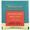 Teeccino, Roasted Herbal Tea, Dandelion Red Chai, Caffeine Free, 10 Tea Bags, 2.12 oz (60 g)