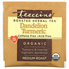Teeccino, Organic Roasted Herbal Tea, Dandelion Turmeric, Caffeine Free, 10 Tea Bags, 2.12 oz (60 g)